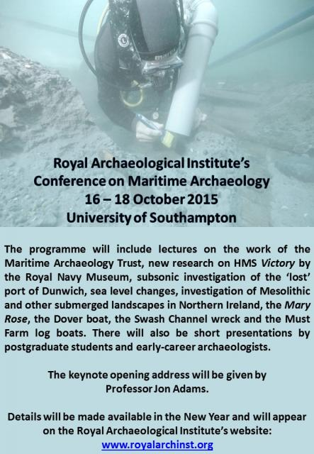 2015 Maritime Archaeology Conference